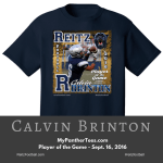 Purchase this awesome t-shirt today! Use promo code potg to get $2 off! A portion of all proceeds go to the Reitz Football team!