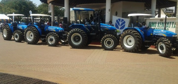 Some of the tractors that were purchased by Kisumu County government to improve farming in the region. [Photo: Odhiambo Alal]