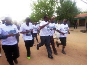 Residents, guests and local leaders making five kilometre marathon within Garissa town [Photo: Abjata Khalif]