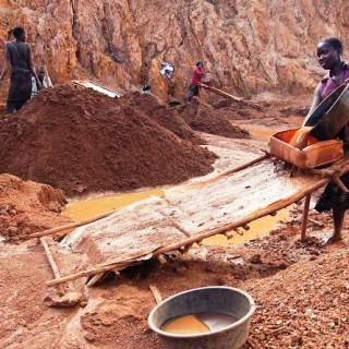 Gold miners at the Macalder mines in Nyatike in Migori County, where cases of children working in violation of the labour laws is the order of the day. [Photo: Malachi Motano]