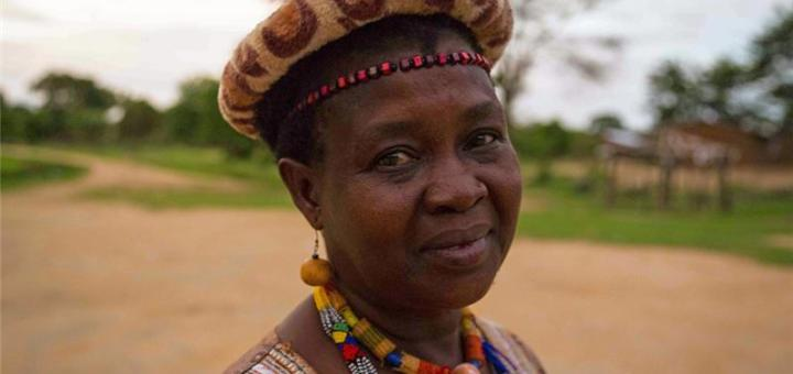 Senior Chief Inkosi Kachindamoto supports the UNiTE to End Volence Against Women campaign in Malawi. Picture:Courtesy