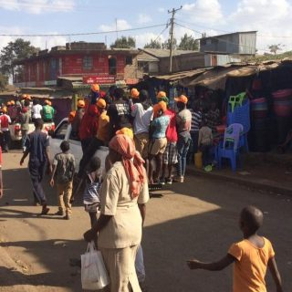 Kibra youth heading to a political rally In Kibra constituency.Picture:Thomas Bwire