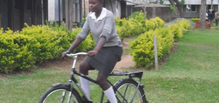 A student at Mahanga 'K' Secondary School leaves school for home. Photo Joyce Chimbi