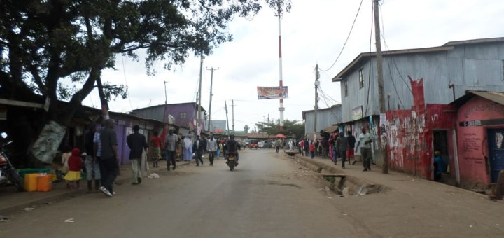 Residents of Kibra slum in Kibra constituency going about their business. The area was more peaceful compared to some past election periods. Picture: Odhiambo Orlale
