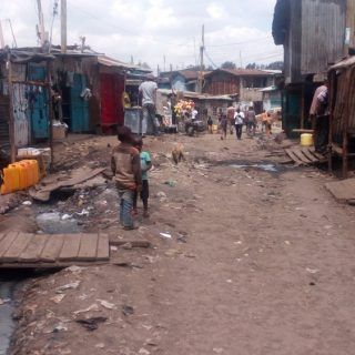 Children living in Kibra slum are exposed to risks that put their health in danger. Picture: Kevine N. Omtatah