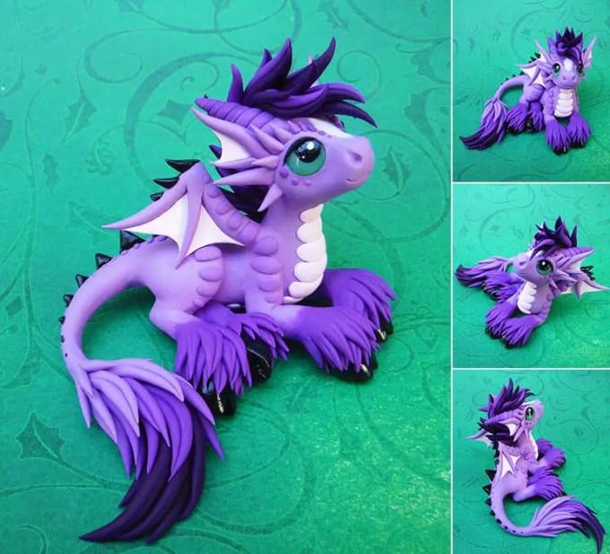 kerajinan clay dragon