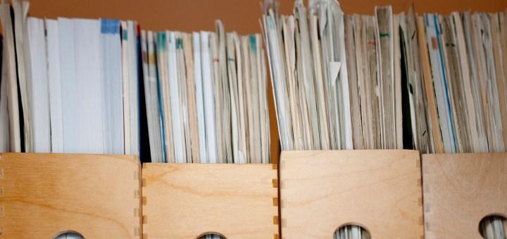 close up of file folder