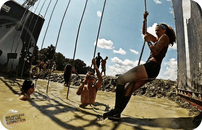 Boston Spartan Sprint Rope Climb