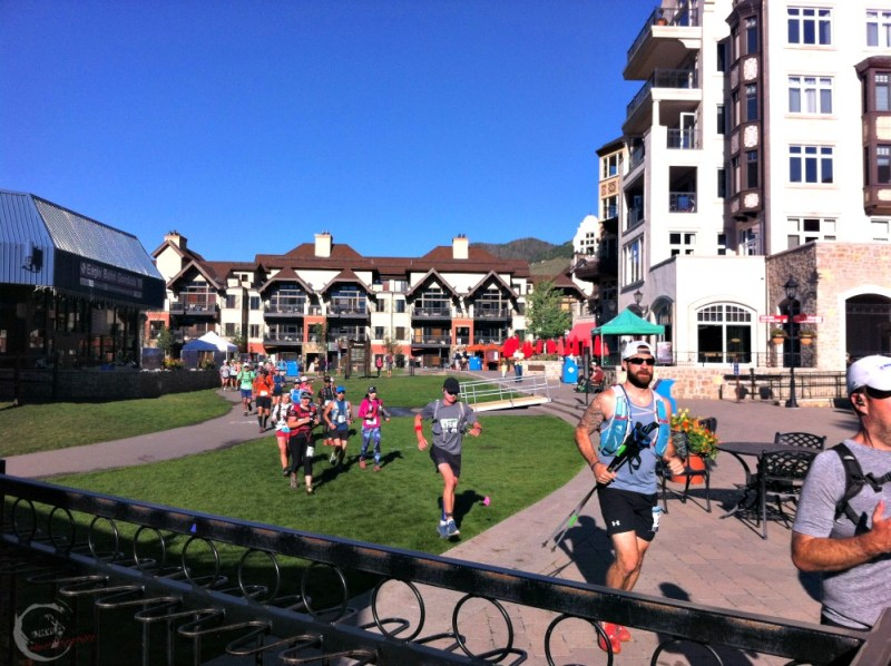 Running through Vail TransRockies Run