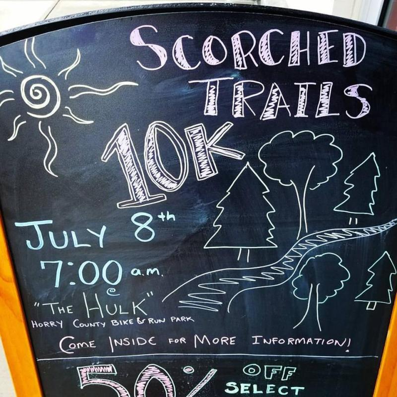 Scorched Trails sign