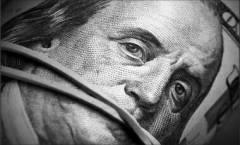 Roll of dollar bills close-up - Money keep silent concept