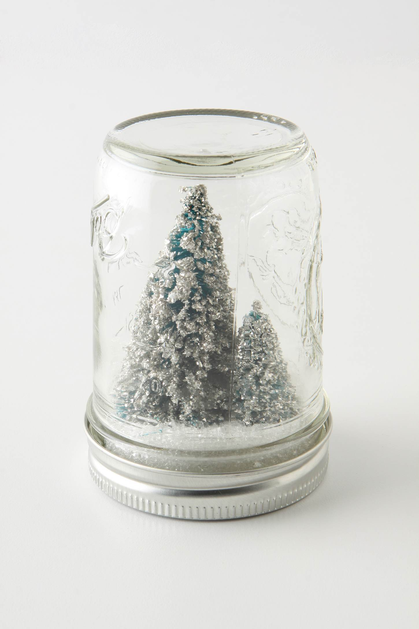 Homemade holiday mason jar snowglobes with tiny sparkly for Easy homemade christmas snow globes