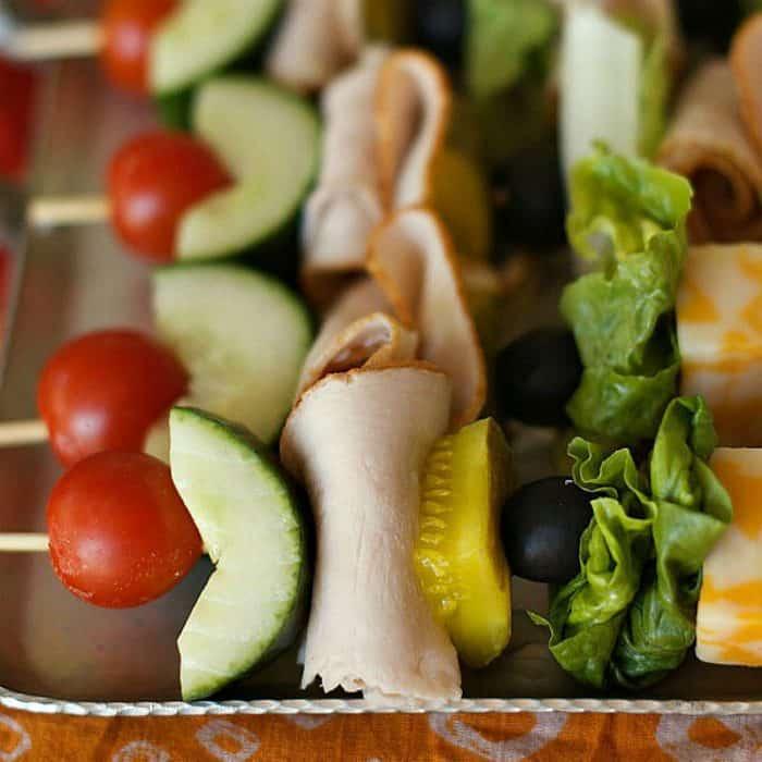 Tasty Make-Ahead Turkey Sandwich Kebabs