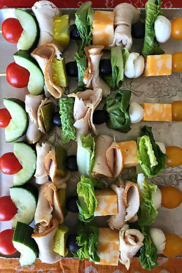 Make-Ahead Turkey Sandwich Kebabs