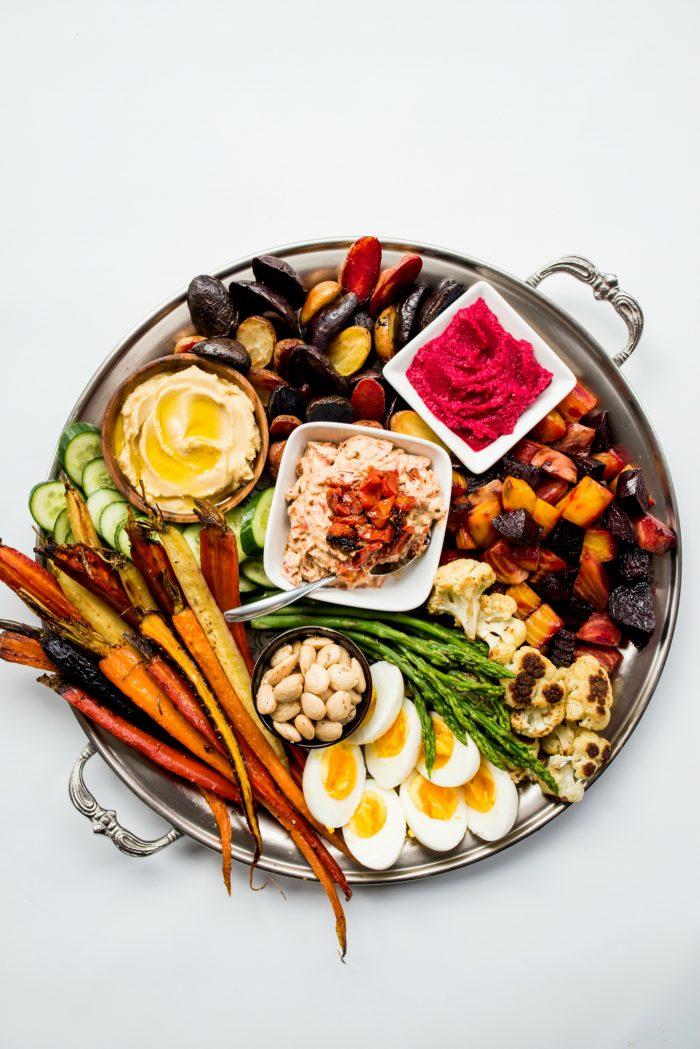 Roasted Veggie Crudite Platter Appetizer