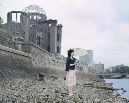 """Rie Hijikata 34, an office lady at a company in Hiroshima. """"We can feel free about anything in life. We don't have to think about the A-bomb neither. But I tend to do. Maybe because I feel something in my DNA. I don't know."""" 42m from the epicenter of the a-bomb explosion."""