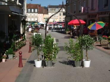 La fleuriste de la rue de la Courtine met aussi à profit la fermeture de la rue