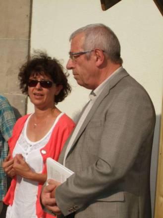 Le maire en compagnie de Marie Hélène Labadens, présidente de l'association Oxygène