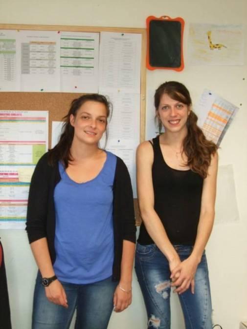 Olivia Deprez, la directrice (à gauche) et son adjointe Joanna Odille