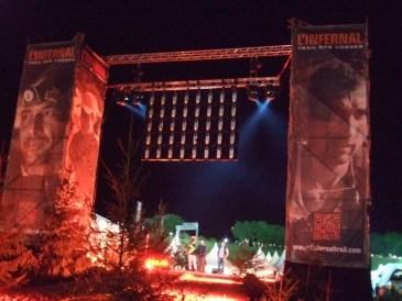 L'Infernal Trail 2015, le site des Perrey la nuit