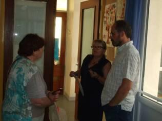 Mme Véronique Manchon, directrice au Rhumont, s'entretient avec les conseillers présents