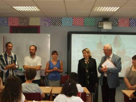 Visite dans la classe de Caroline Bernez, école de La Maix