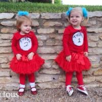 How-To: Girly Thing 1 & Thing 2 Halloween Costumes