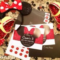 The Making of Chloe's Minnie Mouse Birthday Invites