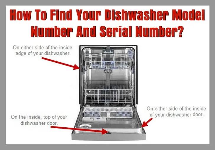 RemoveandReplacecom Dishwasher Model Number Location