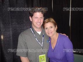 My Web Master, Stephen H with Carrie Fisher