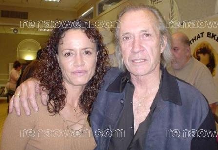 Rena and David Carradine at the Hollywood Collectors Show, January 2003