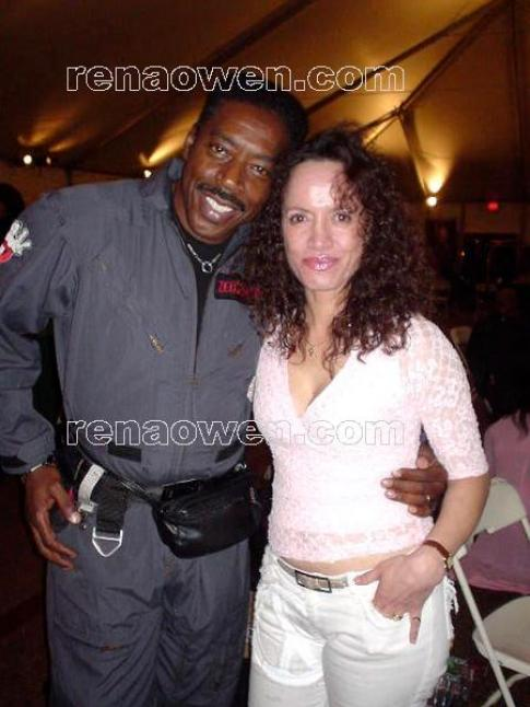 Rena and Ernie Hudson from Ghostbusters