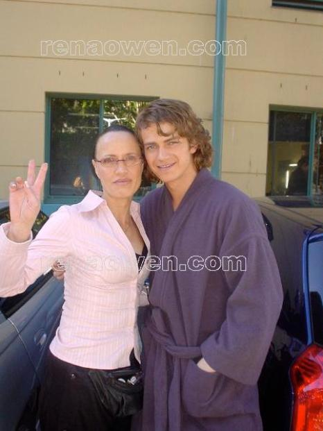 Rena with Hayden Christensen (Anakin Skywalker)