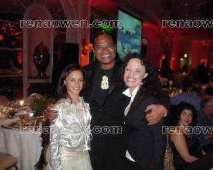 Rena with Keisha Castle-Hughes (Whale Rider) and Lawrence Makaore (Lord of the Rings)