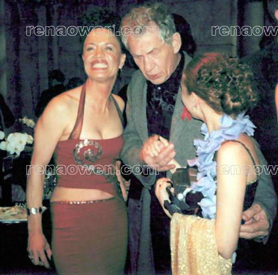 Rena with Sir Ian McKellen