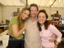 Rena with Virginia Hay and Vernon Wells