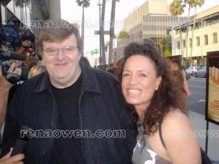 Rena with director Michael Moore 2