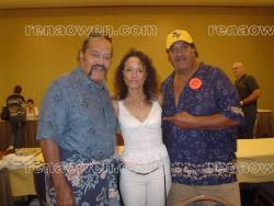 Rena with the Wild Samoans Wrestlers