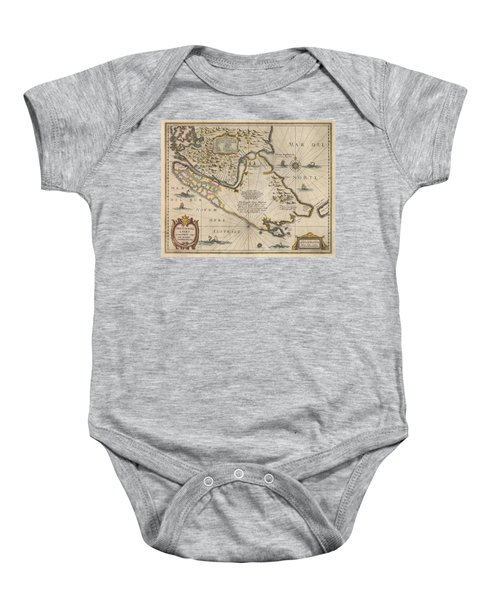 Strait Of Magellan Baby Onesies   Fine Art America Antique Maps   Old Cartographic Maps   Antique Map Of The Strait Of Magellan   South