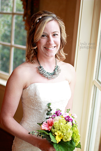 Beautiful bride at Braselton Stover House
