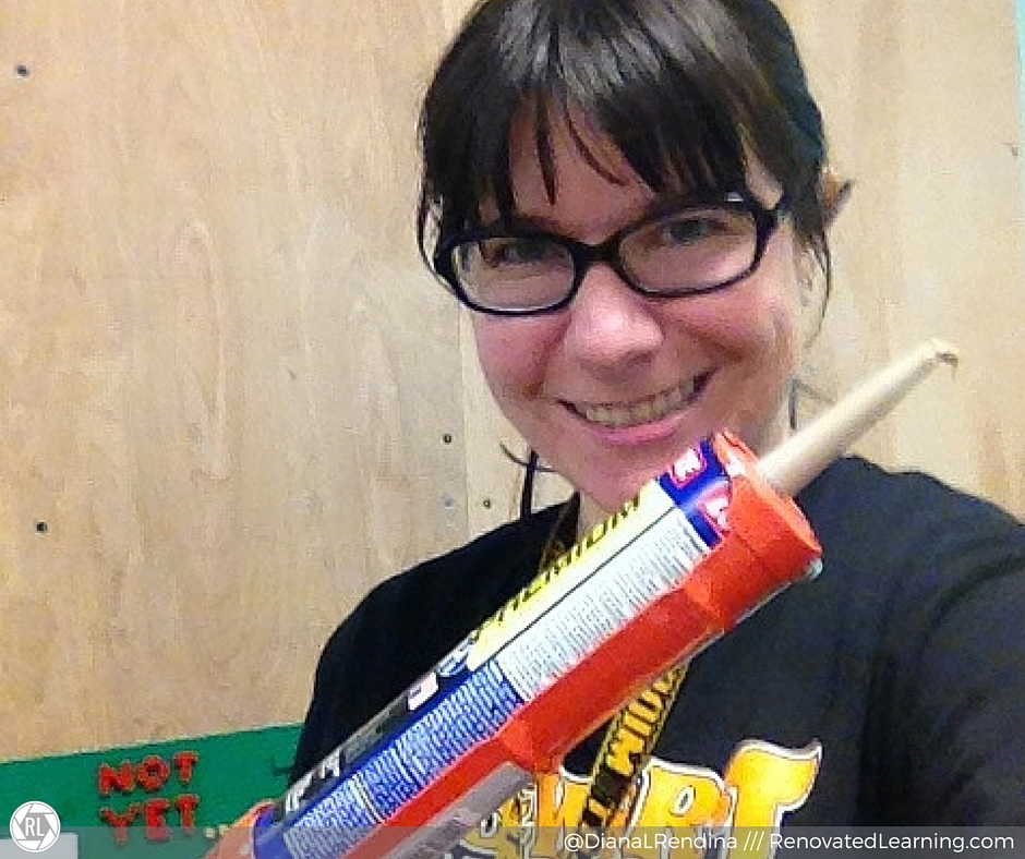 Make sure you use a caulking gun. It makes it easier (and makes you look pretty cool) | RenovatedLearning.com