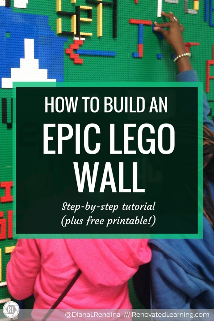 How to Build an EPIC LEGO Wall | Follow along with this detailed tutorial to create your very own EPIC LEGO Wall. Great for libraries, makerspaces, classrooms, bedrooms, offices or anywhere awesome. Bonus printable in post too! | RenovatedLearning.com