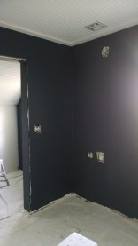 master bedroom dark gray paint