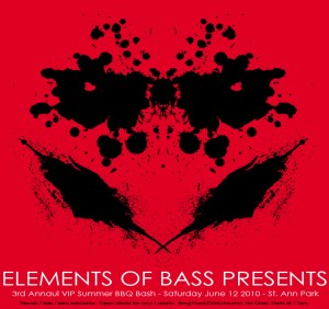 Elements of Bass BBQ Flyer