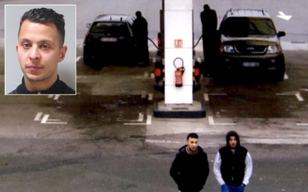 Paris shooting suspect, Salah Abdeslam, and suspected accomplice, Hamza Attou, are seen at a petrol station on a motorway between Paris and Brussels, in Trith-Saint-Leger