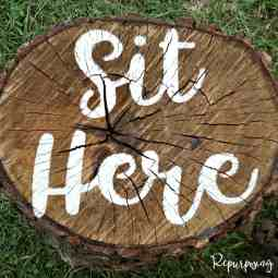 Make Campfire Log Seats Fun with this Awesome Idea!!