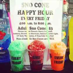 Small Crop Of Snow Cone Flavors