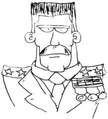 Braintown - Boceto escaneado del comandante
