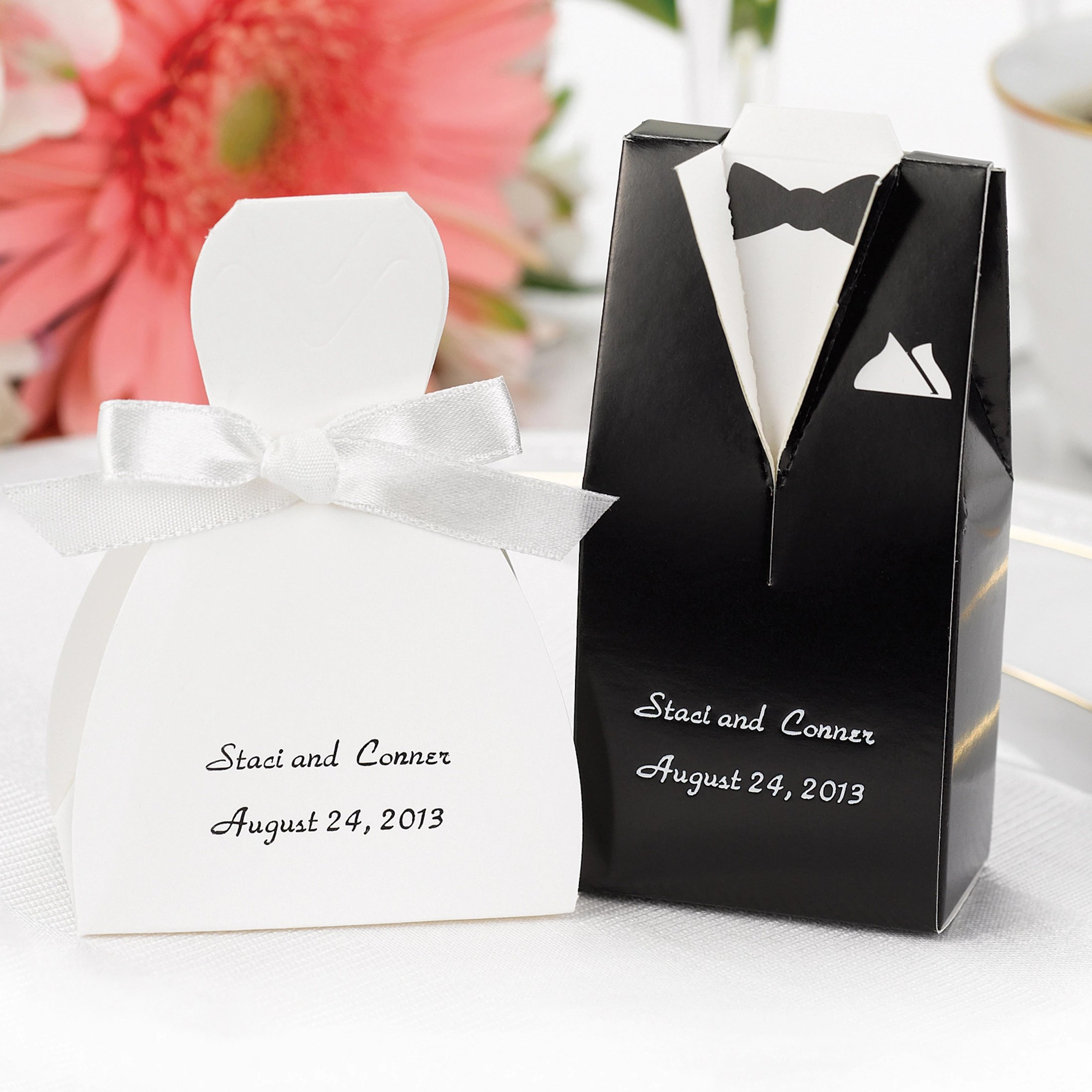 Bride and Groom Favor Boxes wedding favor boxes