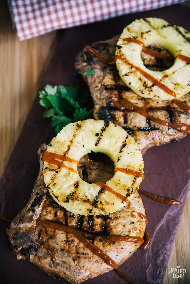 Glomorous Grilled Hawaiian Style Pork Chops Grilled Pork Chops Paleo Leap Pineapple Pork Chops Pinterest Pineapple Pork Chops 12 Tomatoes nice food Pineapple Pork Chops